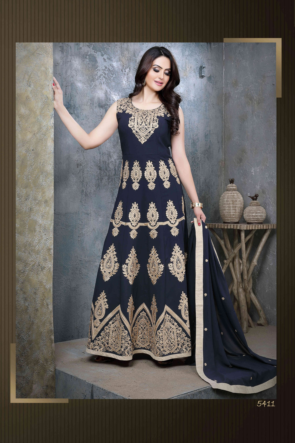 Soft & comfortable Anarkali with elaborate embroidery