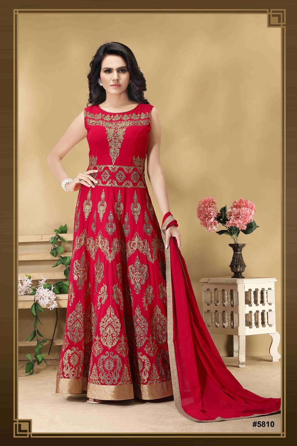 Floor length Anarkali with delicate Resham Work