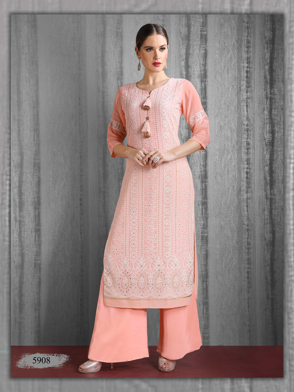 Soft Lakhnavi Kurti in Viscose Georgette
