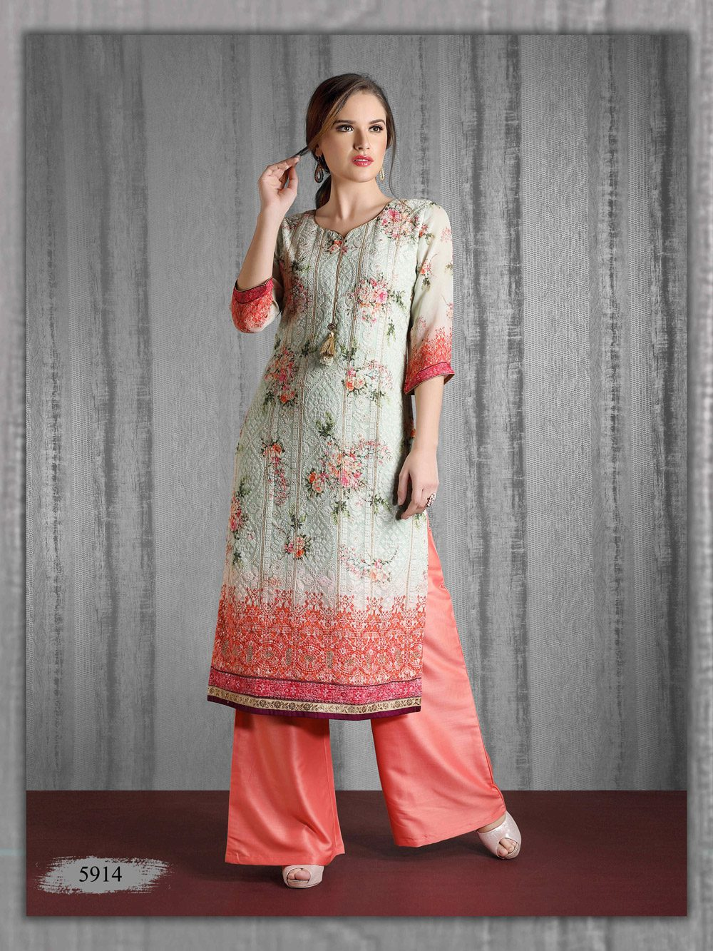 Soft Printed Lakhnavi perfect for office lunches