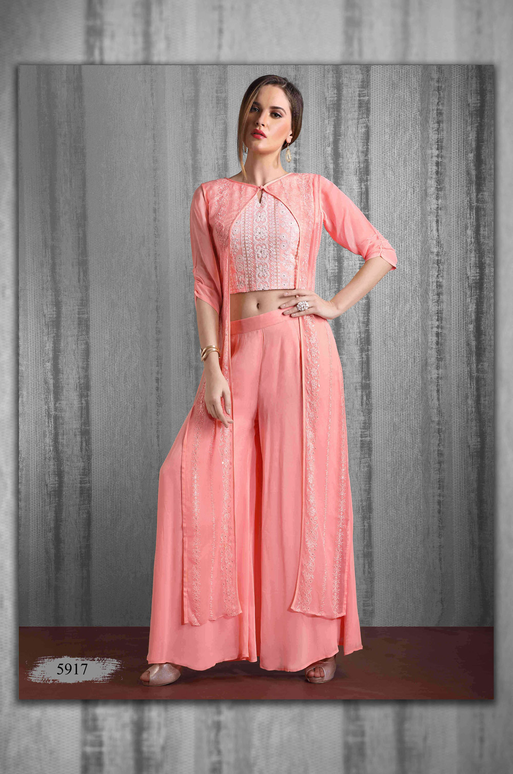 Contemporary outfit made in Lakhnavi & soft georgette based fabric