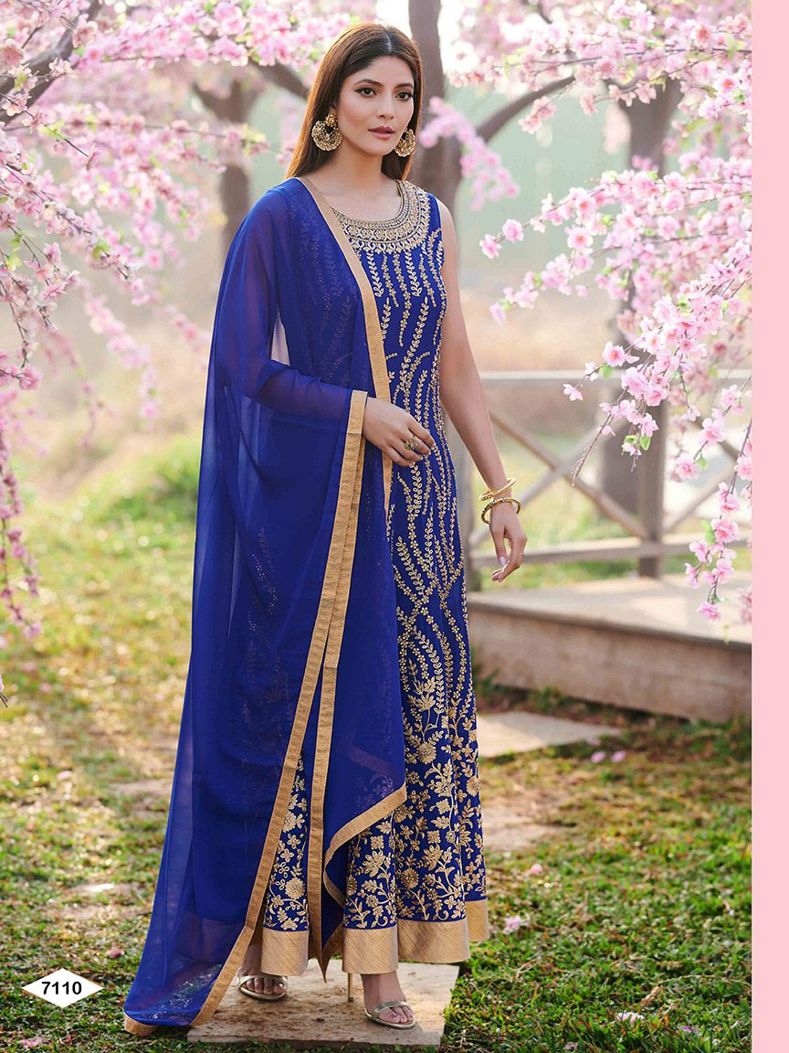 Elegant Anarkali with stunning embroidery